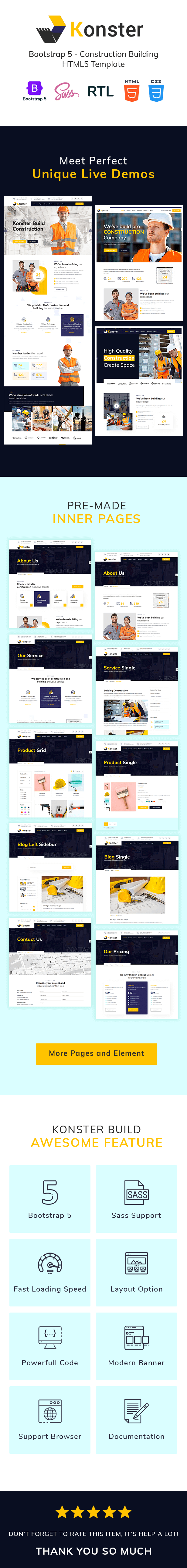 Konster - Construction Building Bootstrap5 Template - 2