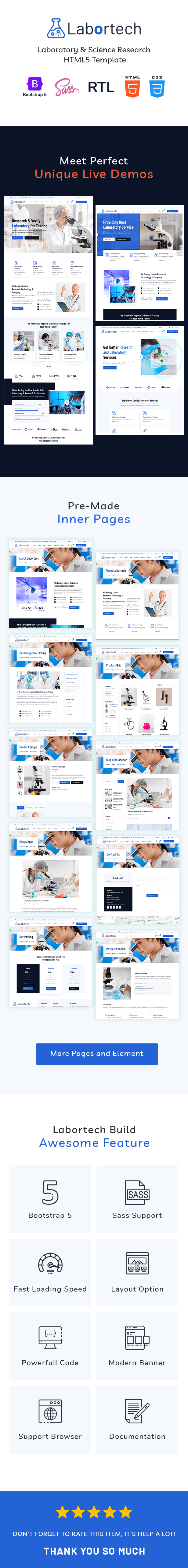 Labortech - Laboratory & Science Research HTML5 Template - 1
