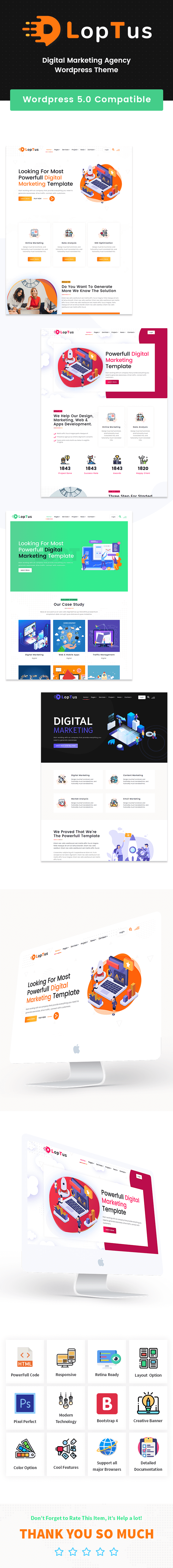 Loptus - Digital Marketing Agency WordPress Theme - 2